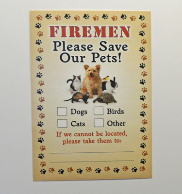 Fireman Save Our Pets Sticker