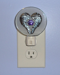 Winged Paw Print Night Light